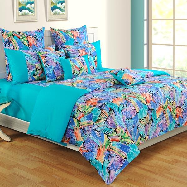 Blue Splash Bedsheet Set
