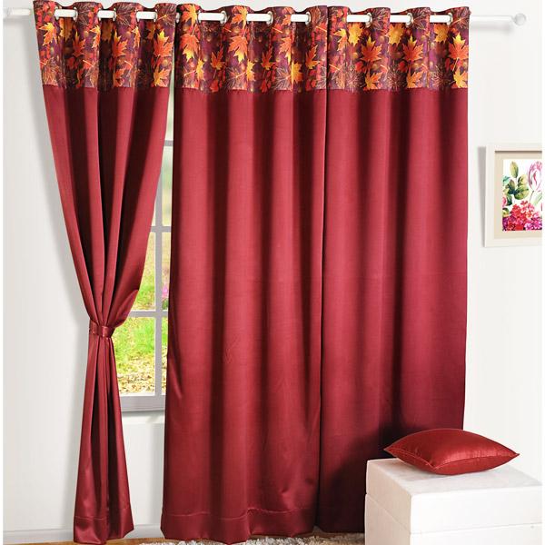 Mystic Maroon Blackout Window Curtain