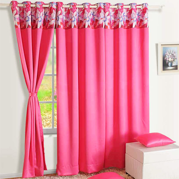 Hot Pink Blackout Window Curtain
