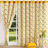 Yellow n Green Door Curtain