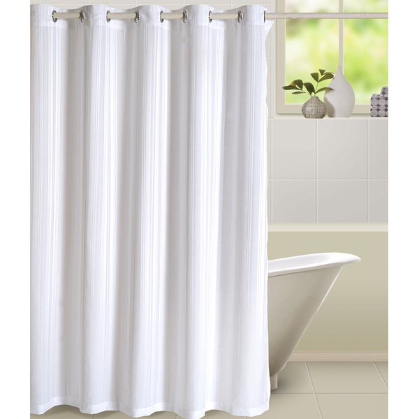 Glamorous White Shower Curtain