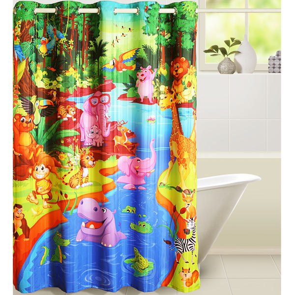 Jungle Story Shower Curtain