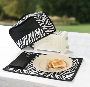 Black and White Toaster Cover Set