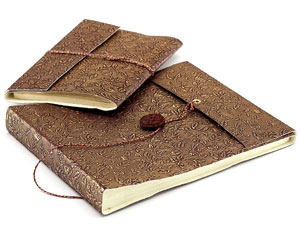Eco-Friendly Gifts-Recycled Handmade Paper Travelers Diary