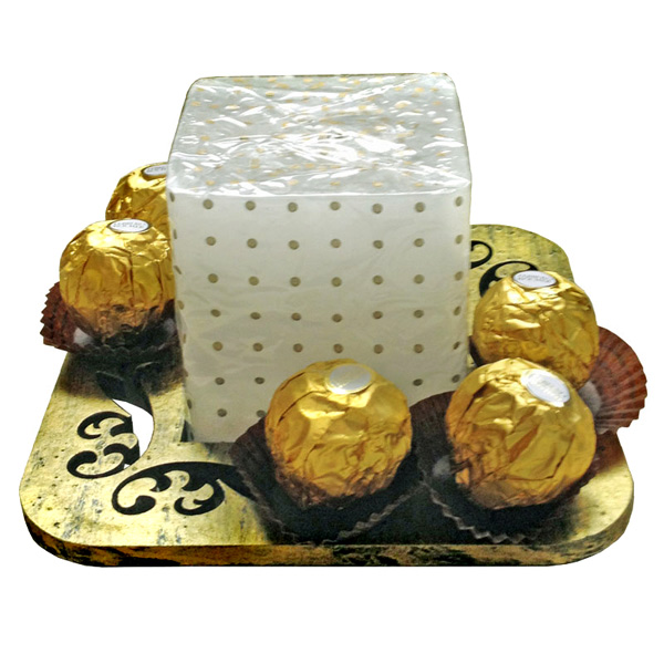 Candle Stand with Ferrero Rocher