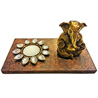 Lord Ganesha with Decorative T-Light Holder