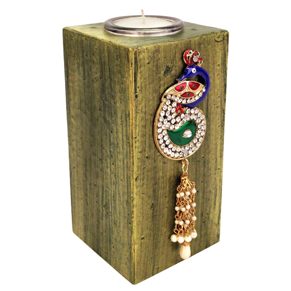 Decorative Peacock Candle Stand