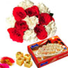 Flowers with Sone Papdi