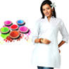 White Cotton Kurti with Natural Gulal Pack
