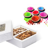 Almonds and Pista Box with Natural Gulal Pack
