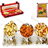 Carving Bowl Set in Velvet Box with Dryfruits - Set of 3