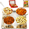 Carving Bowl Set in Velvet Box with Dryfruits - Set of 4