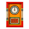 Warli Handpainted & Dhokra Work Yellow Clock