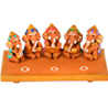 Terracotta Handpainted Musical Sitting Ganesha
