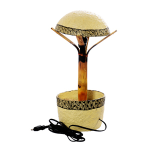 Paper mache mushroom lamp with henna work india for How to make paper mache lamps
