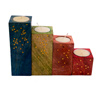 Multicolored Tea Light Holder - Set of 4