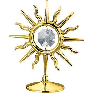 Table Decoration-24K Gold Plated Sun Studded with Swarovski Crystals