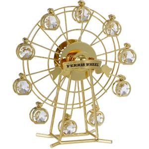 24k Gold Plated Ferris Wheel Studded With Swaorvski