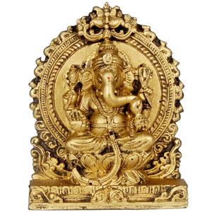 Lord Ganesha - Antique Finish Idol