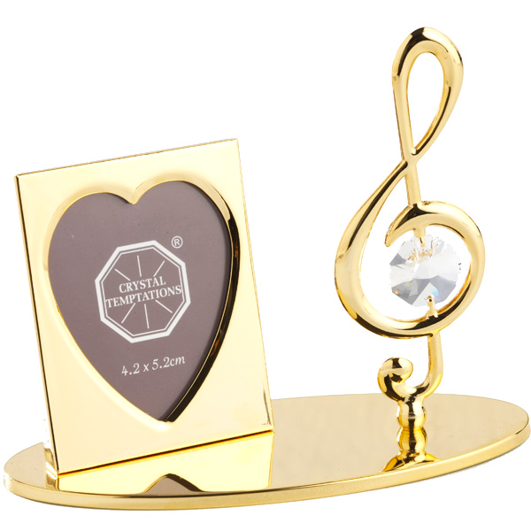 24K Gold Plated Photo Frame Treble Clef