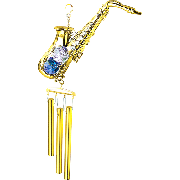 24K Gold Plated Wind Chime Saxophone