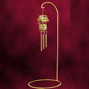 24 Kt Gold Plated Wind Chime Studded with Swarovski Crystals