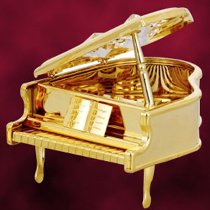 24 Kt Gold Plated Piano Studded with Swarovski Crystals