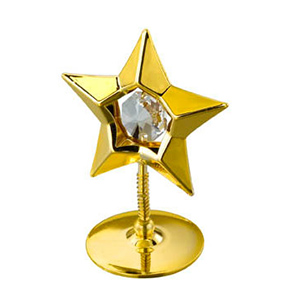 Table Decoration-24K Gold Plated Star Studded with Swarovski Crystals