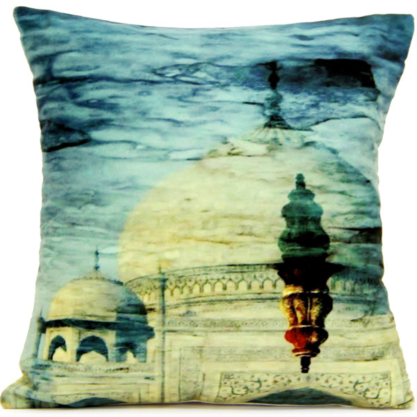 Tajmahal Print Cushion