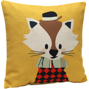 Pillows & Cusion Cover-Cute Catty Cushion