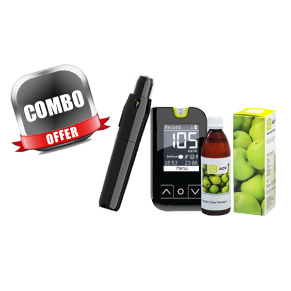 Combo Of Mylife Unio Blood Glucose Monitoring System + Mylife ACV- Apple Cider Vinegar Juice