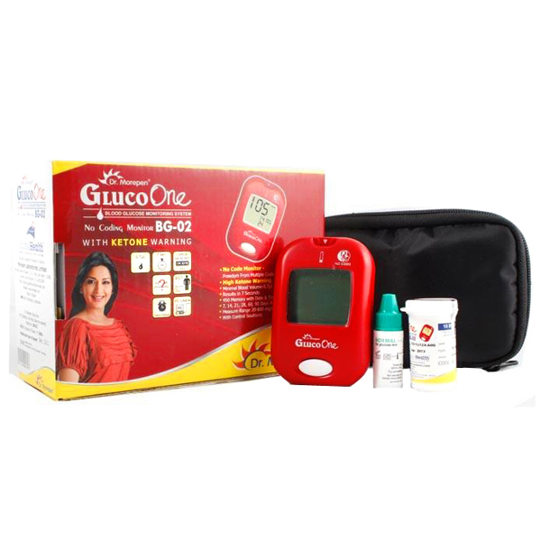 Dr. Morepen BG 02 Gluco One No Code Blood Glucose Monitor with 25 Test Strips