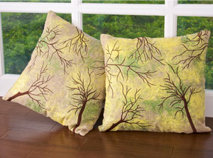 Green Forest Cushion Covers