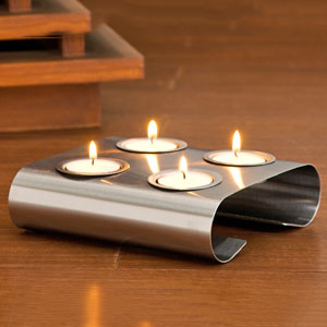 Candles & Candle Stands-Curved Tea Light Holder