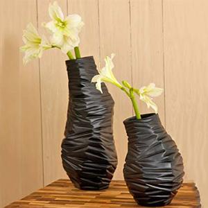 Black Milano Textured Vase