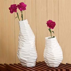 White Milano Textured Vase