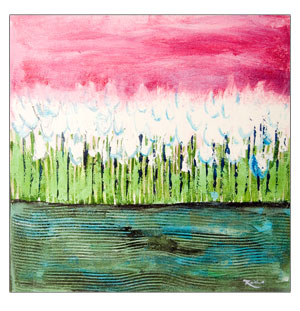 Lillies At Dusk - Print On Canvas