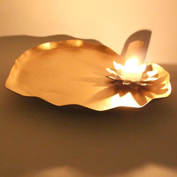 Pipal Leaf Platter T-light Holder