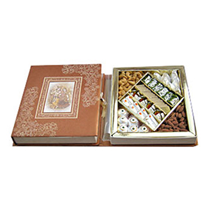 Assorted Mithai-Bikanervala Jumbo Kaju Pista Badam Box
