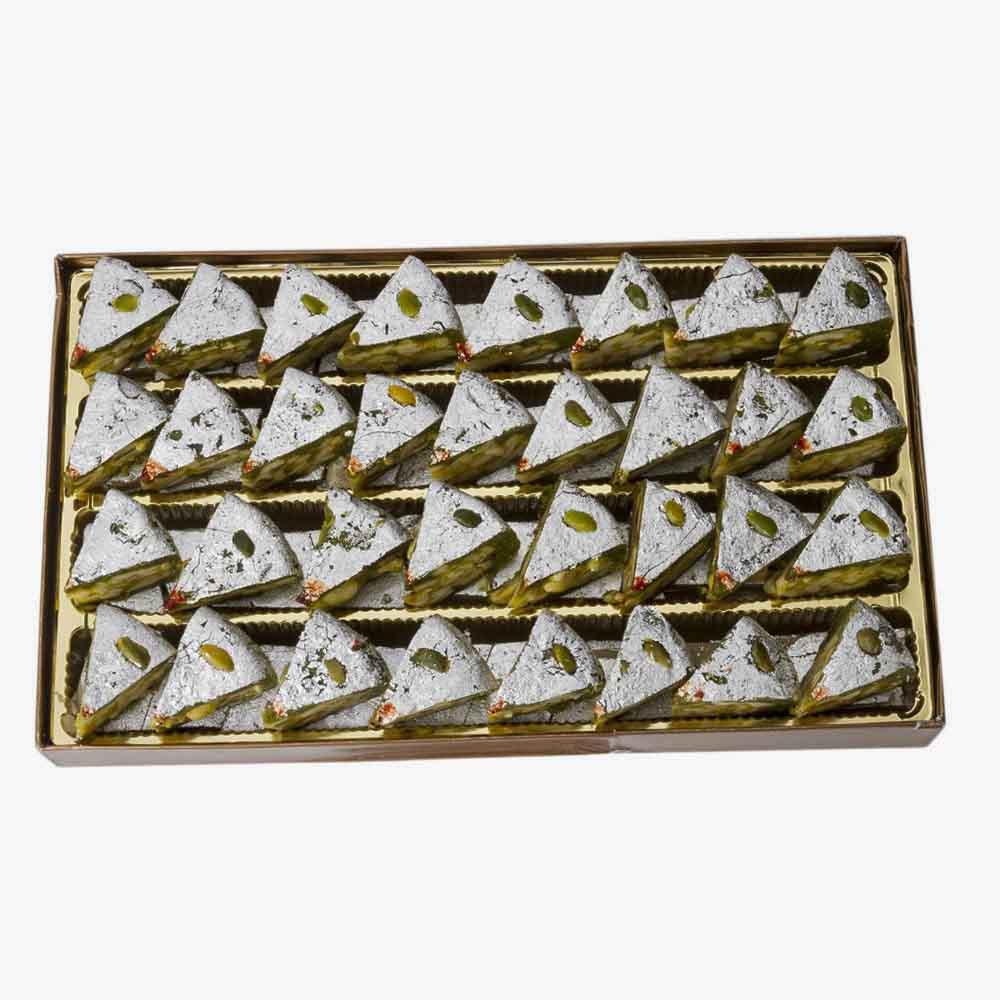 Kaju Mithai-Bikanervala Kaju Badaam Pista Diamond Cake