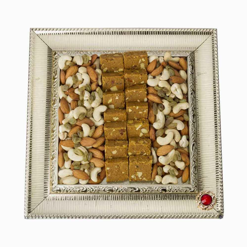 Crunchy Dryfruits-Bikanervala Chana Almond Nutty Bites Platter