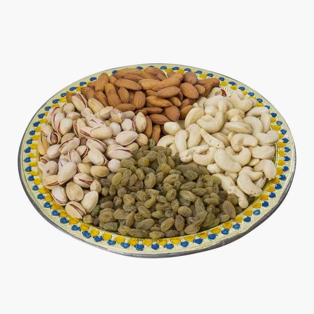 Crunchy Dryfruits-Meenakari Dry fruit Tray