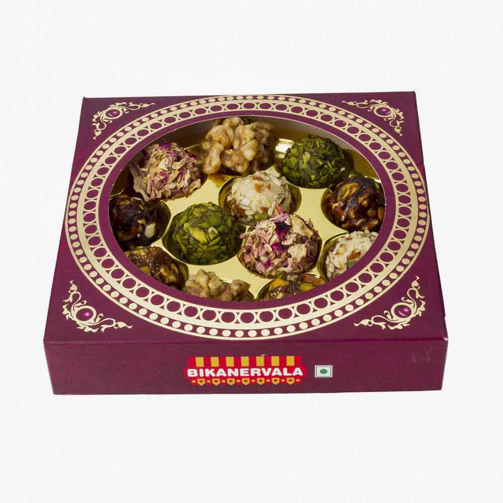 Assorted Mithai-Bikanervala Assorted Premium Shahi Laddoo Delight