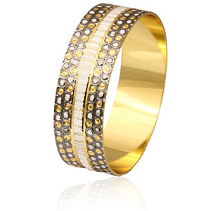 Rein Antique Plated Bangle - 1 piece