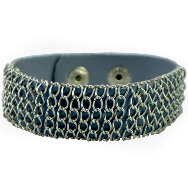 Alpha Man Chain Gang Style Grey Bracelet