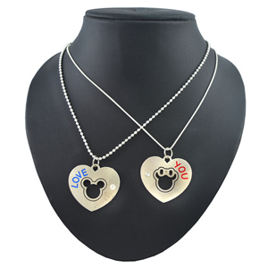 Diovanni Expression of Young Love Couple Pendants