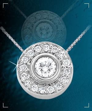 Diamond Pendants-Designer Diamond Pendant