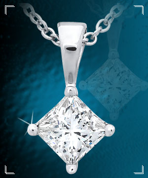 Diamond Pendants-Solitaire Diamond Pendant