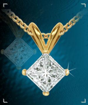 Diamond Pendants-Solitaire Diamond Pendant