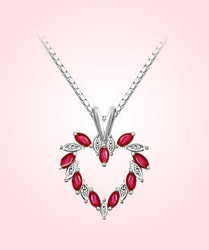 Heart Collection-Heart Shaped Diamond Pendant